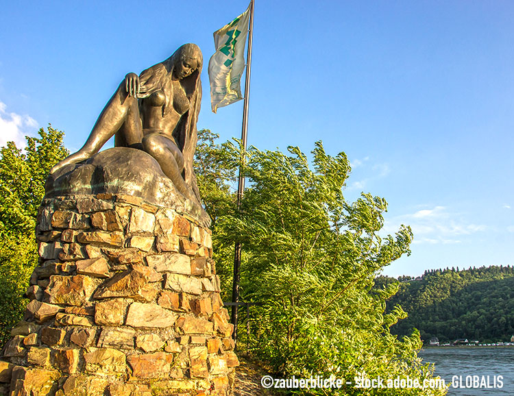 Bronzestatue der Loreley
