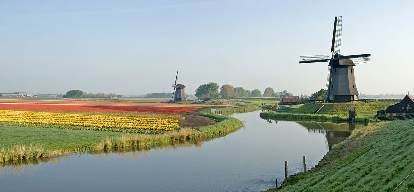 Idyllische Landschaft in Holland